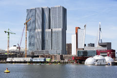 Kop van Zuid district in Rotterdam Stock Image