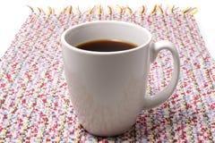 Kop van zwarte koffie Stock Afbeeldingen