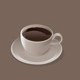 Kop van zwarte koffievector Stock Foto's