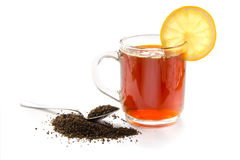 Kop van zwarte thee Stock Afbeelding