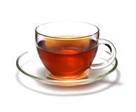 Kop van zwarte thee Stock Foto