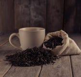 Kop van zwarte thee Royalty-vrije Stock Afbeeldingen
