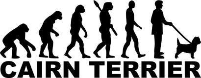 Kopa Terrier ewolucja z imieniem ilustracja wektor