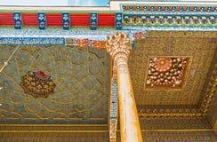 Kopalin farby w uzbeka wystroju Fotografia Stock