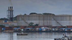 Kopalna rafinerii fabryka, Conakry port zbiory wideo