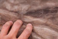Kopalnej wełny sterta na budowie - termiczna izolacja dom Obraz Royalty Free