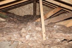Kopalnej wełny sterta na budowie - termiczna izolacja dom Zdjęcie Stock