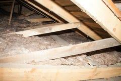 Kopalnej wełny termiczna izolacja dom Fotografia Royalty Free
