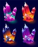 Kopalni kryształy Wektorowi Zdjęcia Royalty Free
