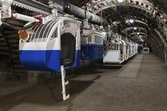 Kopalni Węgla maszyna pracownicy transportowi Zdjęcie Stock