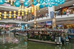 Kopalnia rejs jest łódkowatym przejażdżką na dwa wielkich jeziorach obok kopalnia zakupy centrum handlowego w Seri Kembangan Obrazy Royalty Free