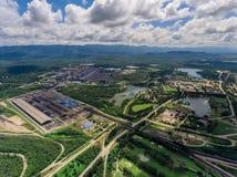 Kopalnia Węgla w widok z lotu ptaka Fotografia Royalty Free