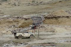Kopalnia złota na wyspie Tierra Del Fuego obrazy stock