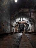 Kopalniany furgon transport wśrodku kopalni Fotografia Royalty Free