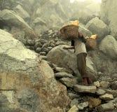Kopalniany pracownik w siarki kopalni Obraz Royalty Free