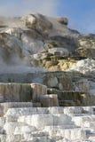 Kopalnych depozytów basenów mamuta gorące wiosny Zdjęcia Royalty Free