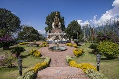 Kopan修道院庭院Kathmandu Valley 库存照片