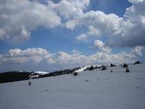 Небо Kopaonik зимы стоковая фотография rf