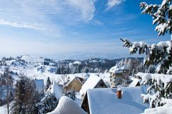 Kopaonik resort. Hotels. Royalty Free Stock Photo