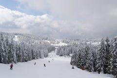 Kopaonik ski slope. Kopaonik mountain winter ski slope skiing Royalty Free Stock Photos