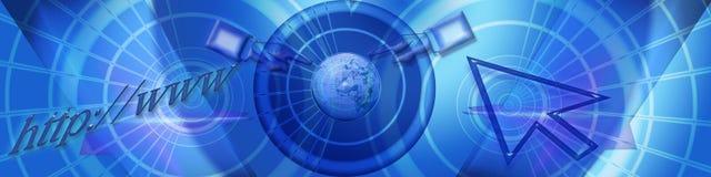 Kopbal: Het zoeken van Internet wereldwijd royalty-vrije illustratie