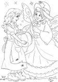 Kopciuszek i czarodziejska matka chrzestna Obraz Stock