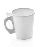 Kopdocument koffie op witte achtergrond Stock Fotografie