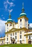 Kope?ek secondario di Svaty della basilica, Olomouc, Moravia, repubblica Ceca, Europa Fotografia Stock Libera da Diritti