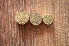 Kopeks den ukrainska valutan Royaltyfria Foton