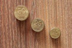 Kopeks die ukrainische Währung Stockfoto