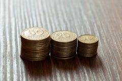 Kopeks la valuta ucraina Immagini Stock Libere da Diritti