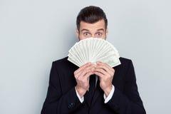 100 kopen van de aandelenmensen van de overdrachtvoorraad het concept van het het succesgeluk sluit royalty-vrije stock fotografie