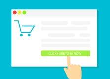Kopend Online Giften Het winkelen Stock Foto's