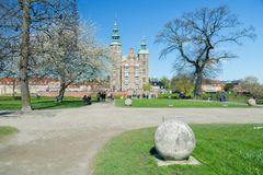 KOPENHAGA DANI, KWIECIEŃ, - 30, 2017: Rosenborg pałac jest Rena Obrazy Royalty Free