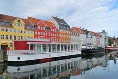 Kopenhaga, Nyhavn Obraz Royalty Free