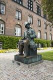 Kopenhaga, H C Andersen statua Fotografia Royalty Free