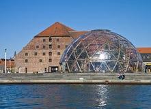 Kopenhaga kopuła wzrok i Królewski Brewhouse Zdjęcia Royalty Free