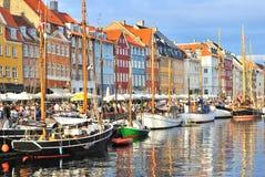 Kopenhaga, Nyhavn schronienie Zdjęcie Stock