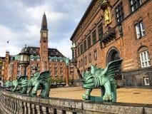 Kopenhaga urząd miasta Zdjęcia Royalty Free