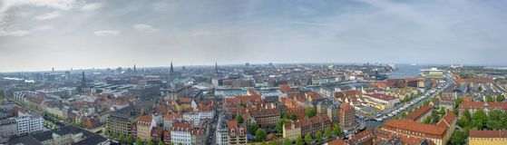 Kopenhaga widoku panoramy krajobrazu miasto Zdjęcia Royalty Free
