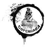 Kopenhaga znaczek Obrazy Royalty Free