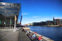 KOPENHAGEN, DÄNEMARK - 16. AUGUST 2016: Der schwarze Diamant, Stockfotografie