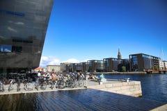 KOPENHAGEN, DÄNEMARK - 16. AUGUST 2016: Der schwarze Diamant, Lizenzfreie Stockfotos