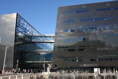 KOPENHAGEN, DÄNEMARK - 16. AUGUST 2016: Der schwarze Diamant, die königliche Bibliothek Det Kongelige Bibliotek Kopenhagens ist d Lizenzfreie Stockfotografie