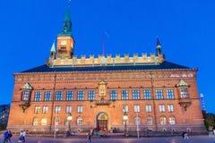 KOPENHAGEN, DÄNEMARK - 27. AUGUST 2016: Rathaus in Kopenhagen, Denma lizenzfreie stockfotos
