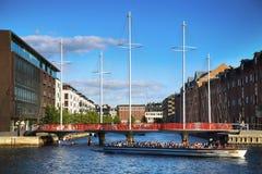 KOPENHAGEN, DÄNEMARK - 16. AUGUST 2016: Schöne Ansicht über das m Lizenzfreies Stockfoto