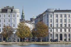 KOPENHAGEN, DÄNEMARK - 8. SEPTEMBER: Sortedams Soe in Kopenhagen Lizenzfreie Stockfotografie