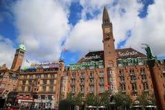KOPENHAGEN, DENEMARKEN - AUGUSTUS 14, 2016: Het Hotel van het Scandicpaleis is a Stock Foto's