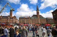 KOPENHAGEN, DENEMARKEN - AUGUSTUS 14, 2016: Het Hotel van het Scandicpaleis is a Royalty-vrije Stock Foto