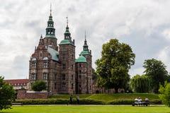 KOPENHAGEN, DENEMARKEN - CIRCA 2016 wordt - het Rosenborg-kasteel gebouwd in de stijl van renaissancearchitectuur en in Copenh ge Stock Foto